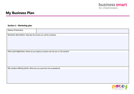 Business plan template pacey business plan template wajeb Choice Image
