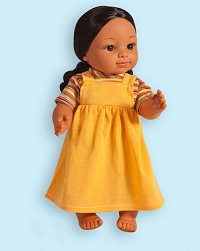 Indian Girl Vinyl Doll