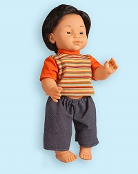 East Asian Boy Vinyl Doll