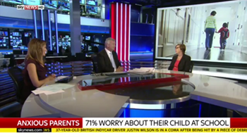 PACEY's Chief Executive, Liz Bayram, speaking about the survey on Sky News, 24.08.15