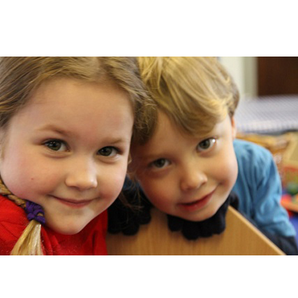 Toddler smiles