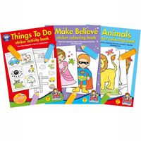 Sticker colouring book bundle 2