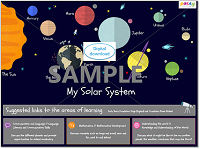My Solar System downloadable poster