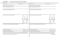 Accident forms - body diagrams