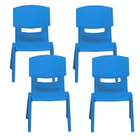 Blue chairs set of 4 (age 3-4)