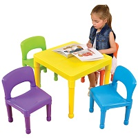 Plastic Table and Chairs