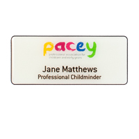 PACEY personalised badge