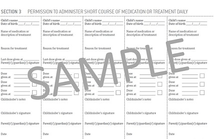 Short Term Medication Forms