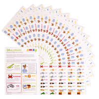 Food allergen stickers