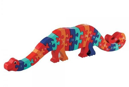 Wooden Number Dinosaur Puzzle