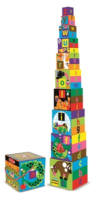 Alphabet Nesting and Stacking Boxes