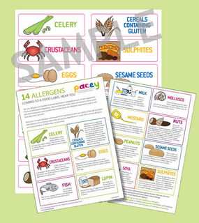 food allergens stickers and information